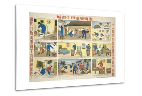 Cleanliness Prevents Malaria--Metal Print