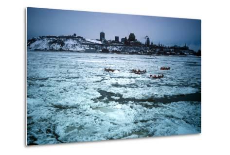 Winter Celebration, Quebec City, Quebec Province, Canada--Metal Print