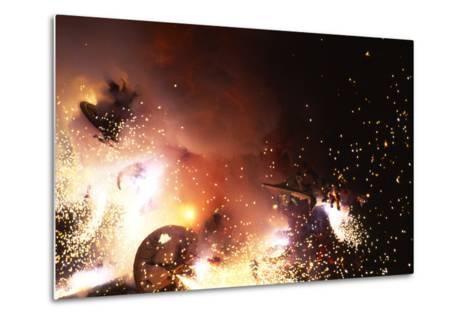 Fallas Celebration, Valencia, Levant, Spain--Metal Print