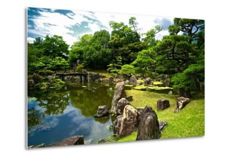 The Pond of the Ninomaru Garden-Kike Calvo-Metal Print