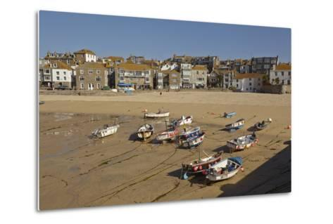 The Harbor at St Ives, in Cornwall, a Favorite English Tourist Destination-Nigel Hicks-Metal Print
