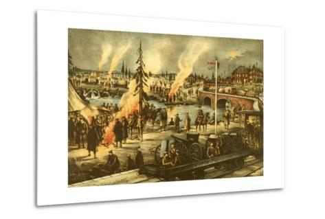 Camping of the Expeditionary Army in Siberia--Metal Print