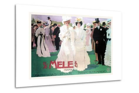 Mele Fashion for the Wealthy at the Races-Leopoldo Metlicovitz-Metal Print