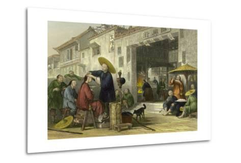 Itinerant Barber-Thomas Allom-Metal Print