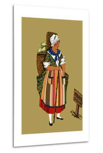 Vegetable Merchant from the Vicinity of Paris-Elizabeth Whitney Moffat-Metal Print