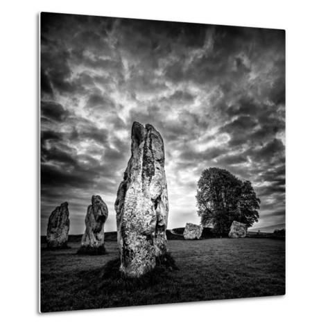 Standing Stones in Countryside-Rory Garforth-Metal Print