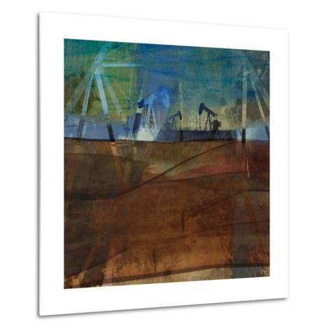 Oil Rig Abstraction II-Sisa Jasper-Metal Print