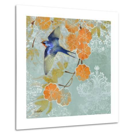 Blue Aurora II-Evelia Designs-Metal Print
