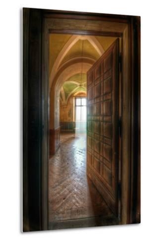 Studded Door-Nathan Wright-Metal Print