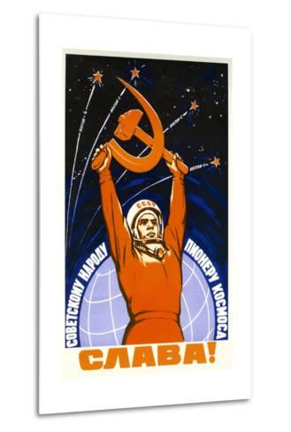 Long Live the Soviet People and its Pioneers--Metal Print