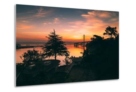 Bay Bridge Sunrise from Treasure Island, San Francisco, California-Vincent James-Metal Print