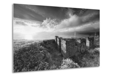 Morning Mist at Golden Gate Bridge, Black and White, San Francisco-Vincent James-Metal Print