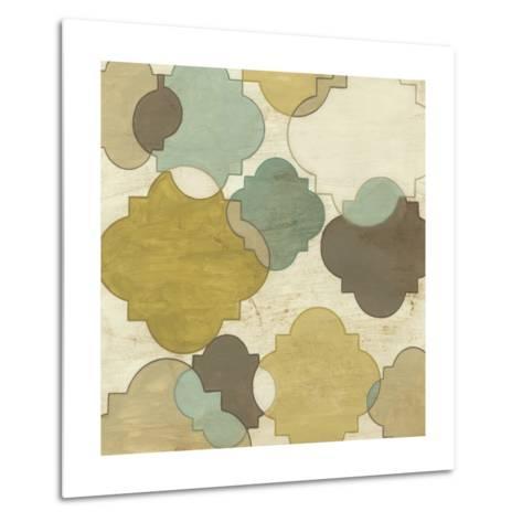 Quatrefoil Overlay I-June Erica Vess-Metal Print