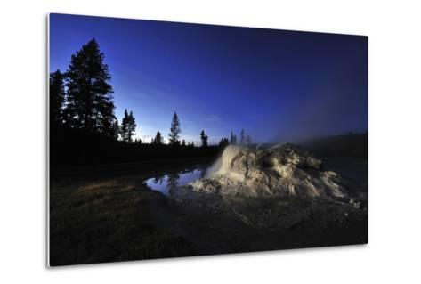 The Midway Geyser Basin at Night, under the Big Dipper, Yellowstone National Park, Wyoming-Keith Ladzinski-Metal Print