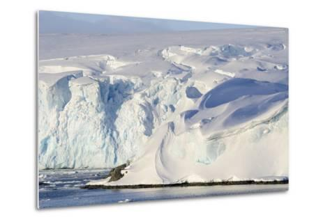 Glacier Next to the American Research and Science Base of Palmer Station on Anvers Island-Rich Reid-Metal Print