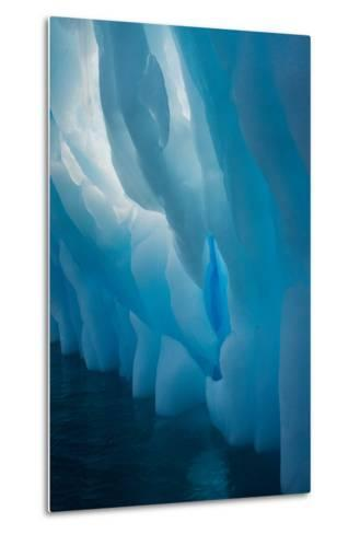 Abstract View of Ice Lit from Outside-Tom Murphy-Metal Print