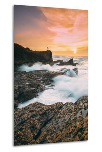 Setting Sunscapet at Monta?a de Oro, Morro Bay California Coast-Vincent James-Metal Print