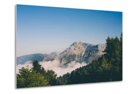 Mountains in Greece-Clive Nolan-Metal Print
