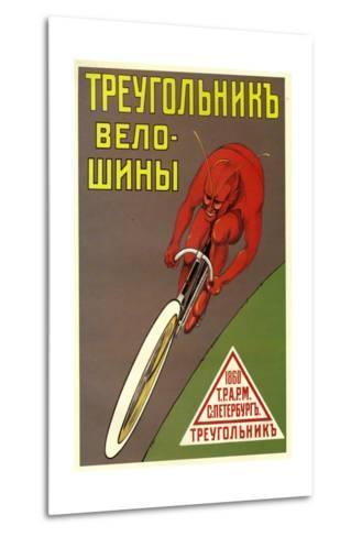 Triangle Bicycle Tires--Metal Print