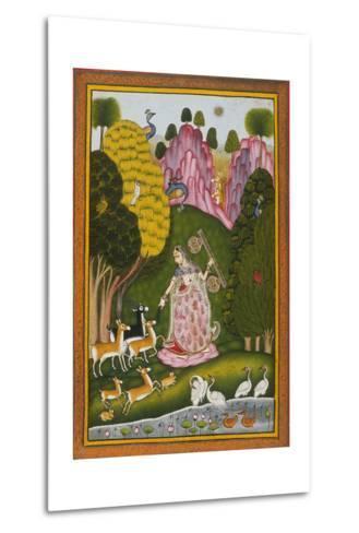 Todi Ragini, Second Wife of Hindol Raga--Metal Print