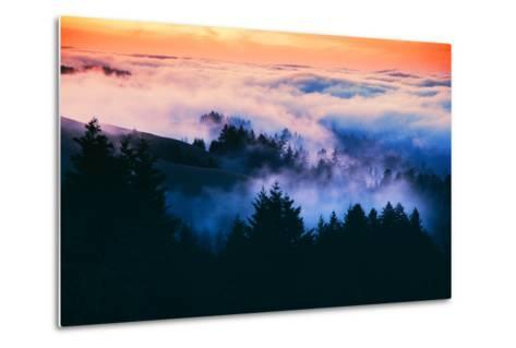 Dream Landscape of Fog at Sunset, San Francisco, California-Vincent James-Metal Print