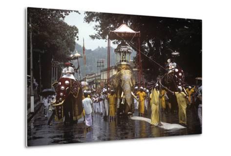 Esala Perahera Festival, Kandy, Sri Lanka--Metal Print