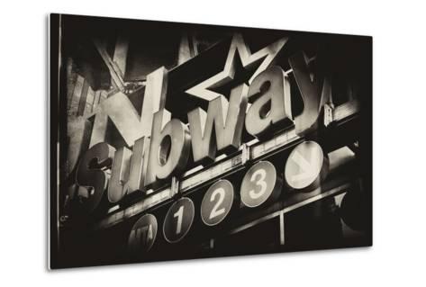 Subway and City Art - Subway Sign-Philippe Hugonnard-Metal Print