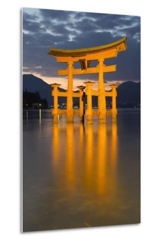 The Floating Miyajima Torii Gate of Itsukushima Shrine at Dusk-Stuart Black-Metal Print