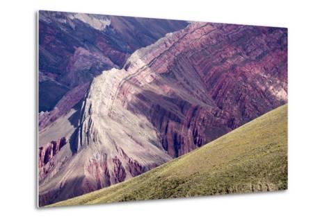 Multi Coloured Mountains, Humahuaca, Province of Jujuy, Argentina-Peter Groenendijk-Metal Print