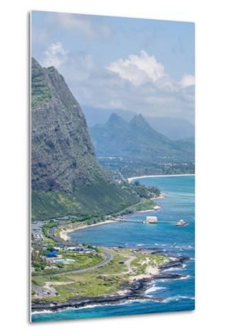 Beach at Waimanalo Bay, Windward Coast, Oahu, Hawaii, United States of America, Pacific-Michael DeFreitas-Metal Print