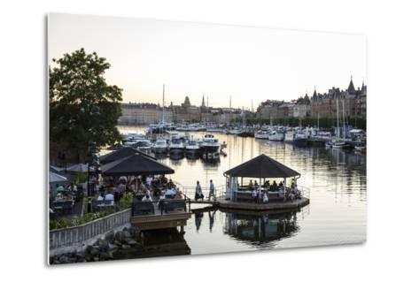 View over the Buildings and Boats Along Strandvagen Street, Stockholm, Sweden, Scandinavia, Europe-Yadid Levy-Metal Print