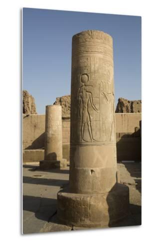 Pillars with Bas-Relief of the God Sobek-Richard Maschmeyer-Metal Print