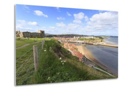St. Mary's Church and Churchyard with View across Tate Hill Beach and Town Houses to West Cliff-Eleanor Scriven-Metal Print