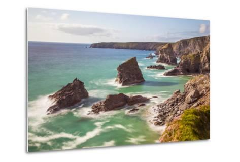 Bedruthan Steps, Newquay, Cornwall, England, United Kingdom-Billy Stock-Metal Print
