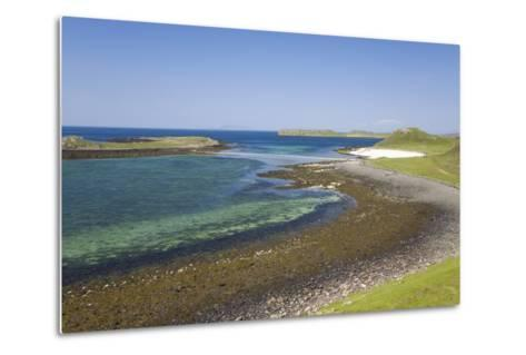 View over Shore at Low Tide to Distant Coral Beach-Ruth Tomlinson-Metal Print