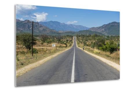Long Straight Road in Central Malawi, Africa-Michael Runkel-Metal Print