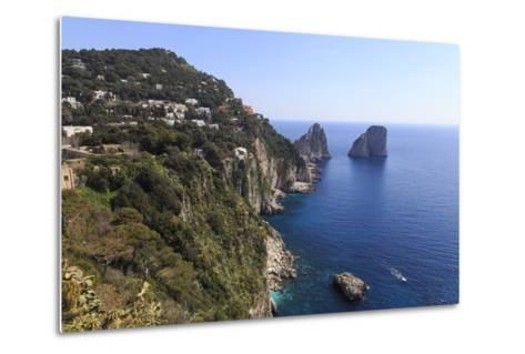 View to Limestone Pinnacles of Faraglioni Rocks from Giardini Di Augusto-Eleanor Scriven-Metal Print