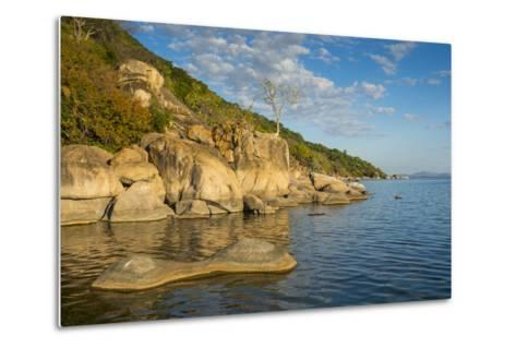 Otter Point at Sunset, Cape Maclear, Lake Malawi National Park, Malawi, Africa-Michael Runkel-Metal Print