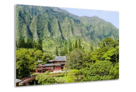 Byodo-In Temple, Valley of the Temples, Kaneohe, Oahu, Hawaii, United States of America, Pacific-Michael DeFreitas-Metal Print