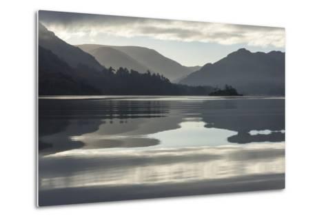Ullswater, Little Island in November, Lake District National Park, Cumbria, England, UK-James Emmerson-Metal Print