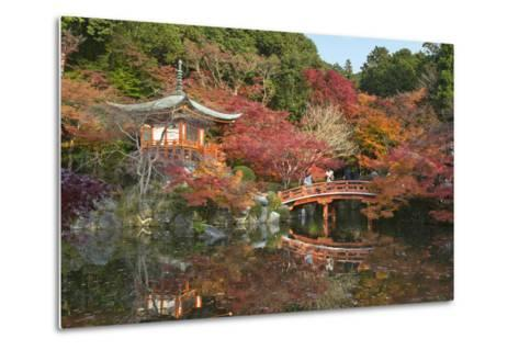 Japanese Temple Garden in Autumn, Daigoji Temple, Kyoto, Japan-Stuart Black-Metal Print