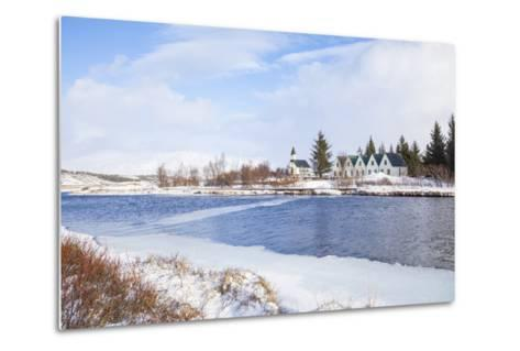 Thingvallabaer and Church by the River Oxara, Thingvellir National Park, Iceland-Neale Clark-Metal Print