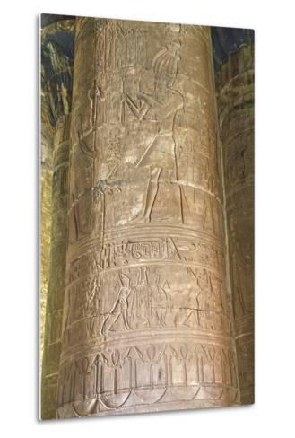 Columns in the Hypostyle Hall, Temple of Horus, Edfu, Egypt, North Africa, Africa-Richard Maschmeyer-Metal Print