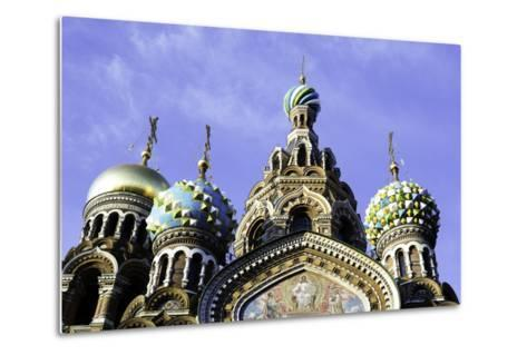 Domes of Church of the Saviour on Spilled Blood, UNESCO World Heritage Site, St. Petersburg, Russia-Gavin Hellier-Metal Print