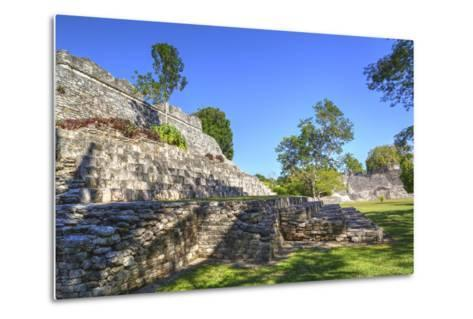 Temple of the King, Kohunlich, Mayan Archaeological Site, Quintana Roo, Mexico, North America-Richard Maschmeyer-Metal Print