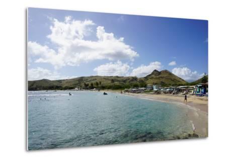 Lion Rock Beach, St. Kitts, St. Kitts and Nevis-Robert Harding-Metal Print