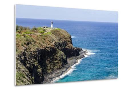 Historic Kilauea Lighthouse on Kilauea Point National Wildlife Refuge-Michael DeFreitas-Metal Print
