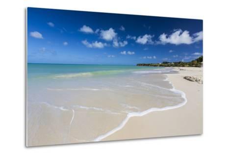 The Waves of the Caribbean Sea Crashing on the White Sandy Beach of Runaway Bay-Roberto Moiola-Metal Print
