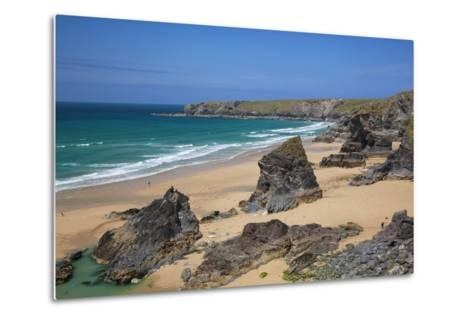 Bedruthan Steps, Newquay, Cornwall, England, United Kingdom-Billy Stock-Metal Print