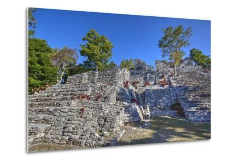 Nivel B, the Acropolis, Kinichna, Mayan Archaeological Site, Quintana Roo, Mexico, North America-Richard Maschmeyer-Metal Print